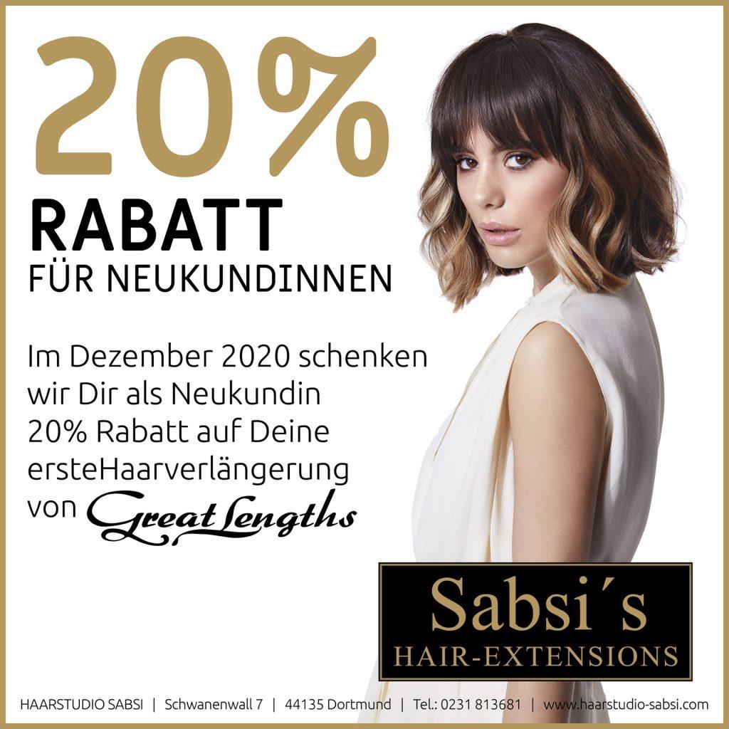 Dezember-Aktion für Neukindinnen bei Haarstudio Sabsi